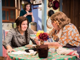 L-R: Karen Estrada as Sophie Gluck, Molly Rhode as Helena, Kelly Doherty as Bodey