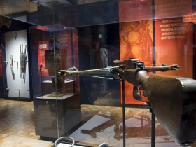 German Crossbow on display in Weapons: Beyond the Blade