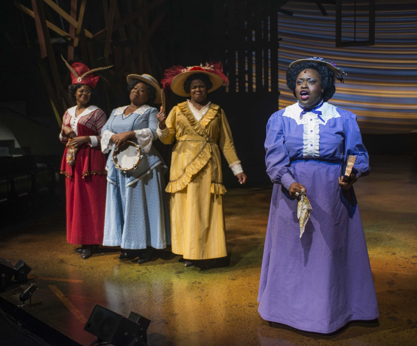 (L – R) Vanessa A. Jones-Dubose, Melody Betts, Vallea E. Woodbury, and Allyson Kaye Daniel in Milwaukee Repertory Theater's 2014/15 Quadracci Powerhouse production of The Color Purple.