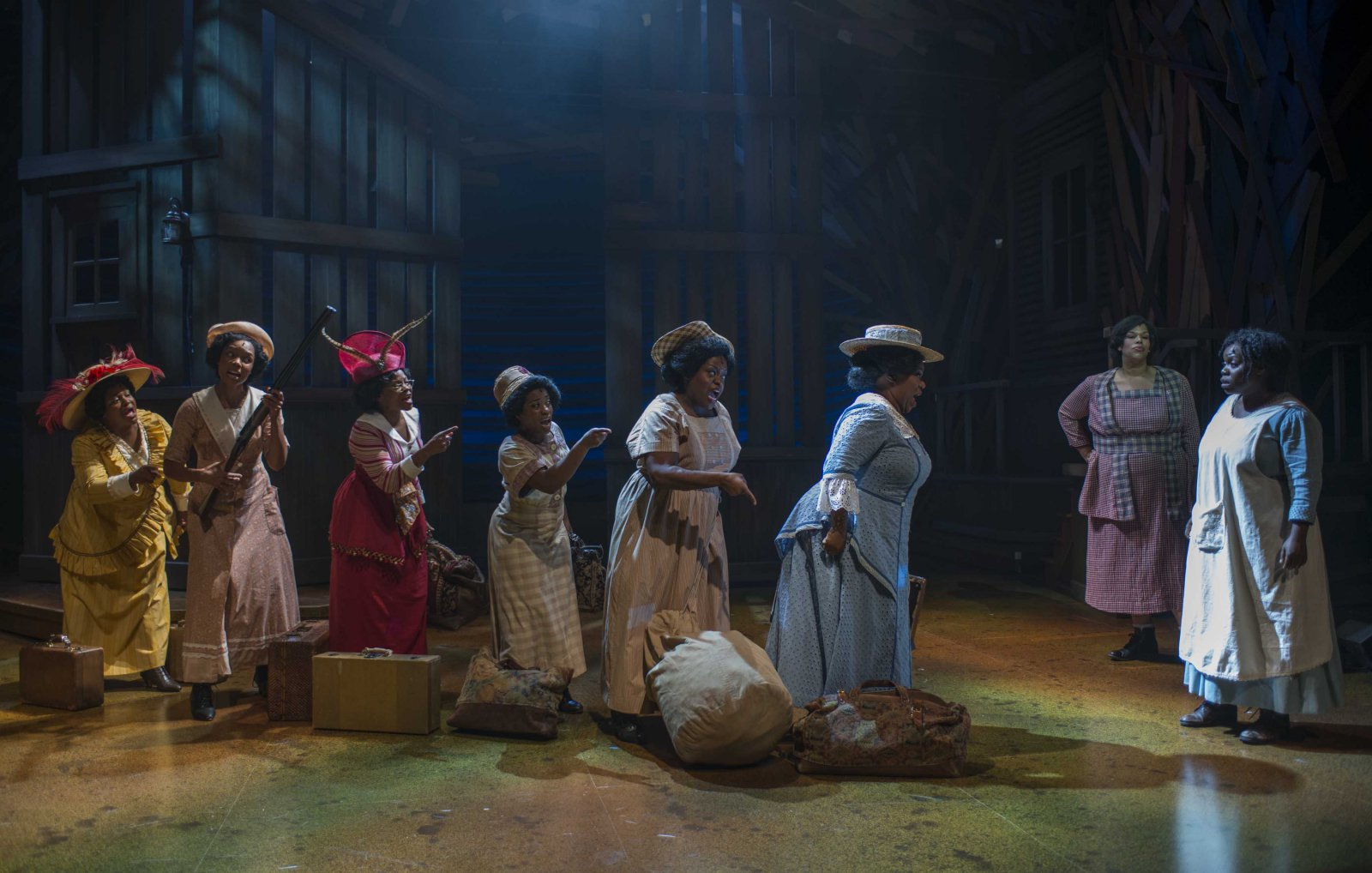 A scene from Milwaukee Repertory Theater's 2014/15 Quadracci Powerhouse production of The Color Purple.