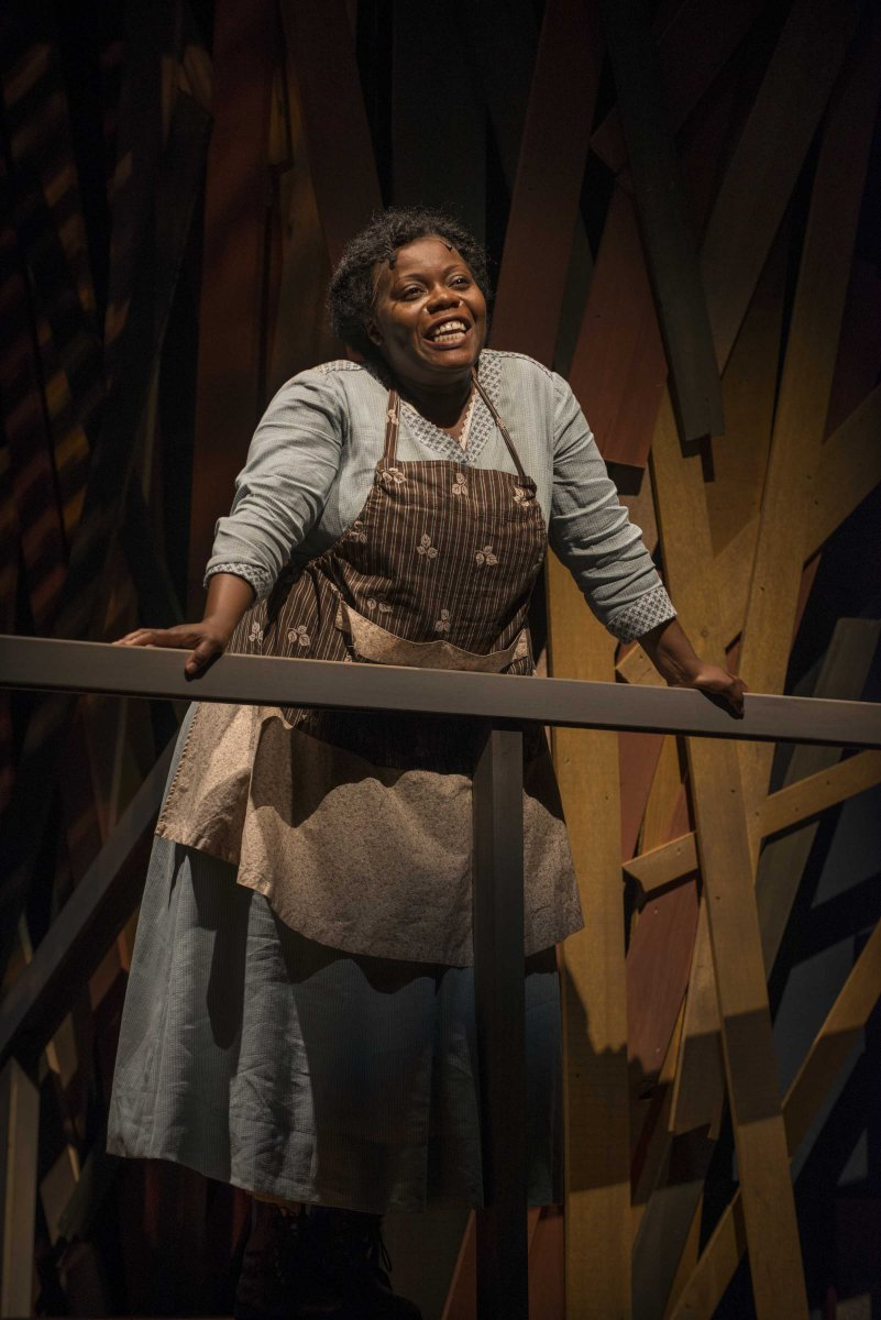 Zonya Love as Celie in Milwaukee Repertory Theater's 2014/15 Quadracci Powerhouse production of The Color Purple.