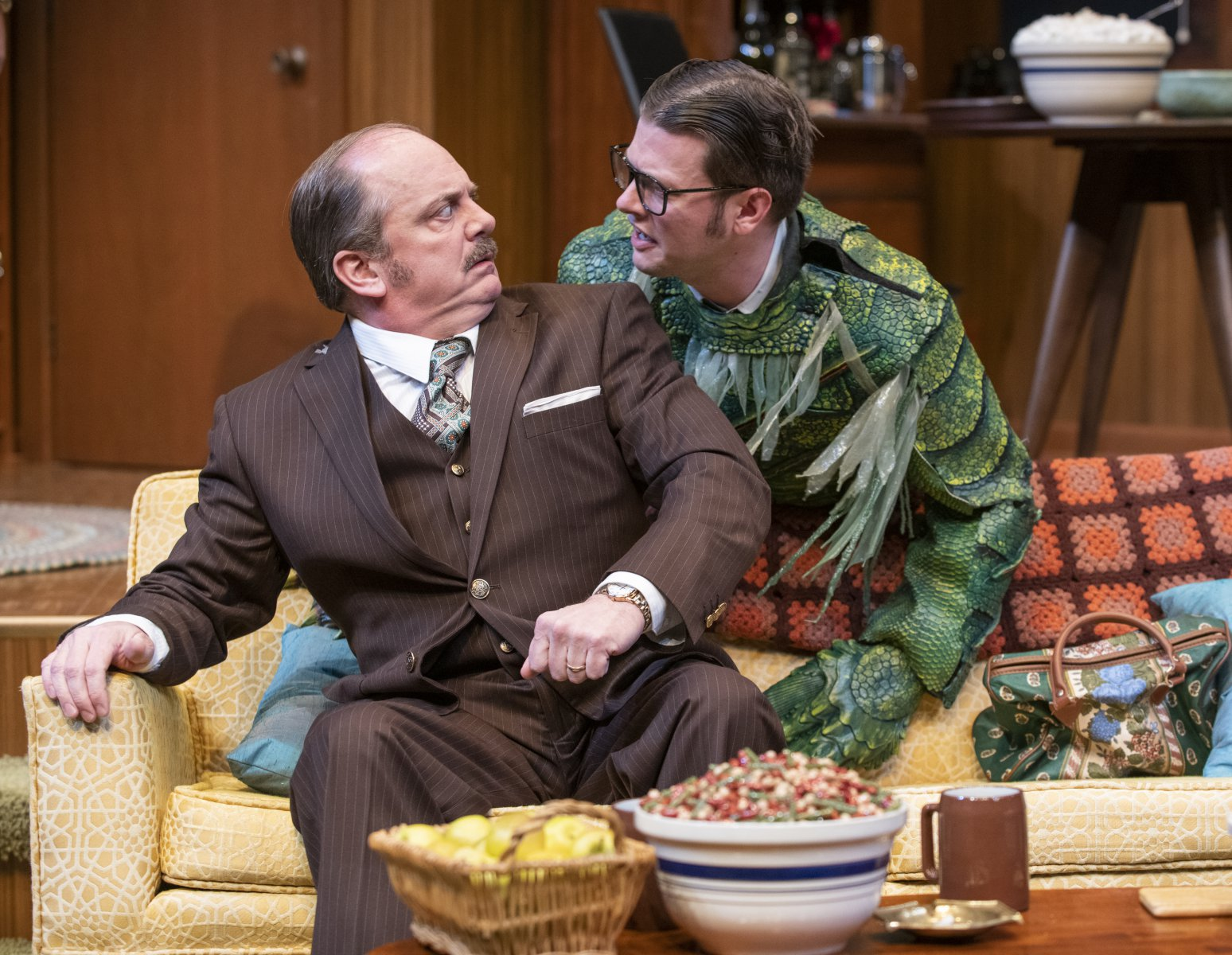 Milwaukee Repertory Theater presents The Nerd in the Quadracci Powerhouse November 12 – December 15, 2019. Left to right: Chris Mixon and Michael Doherty.