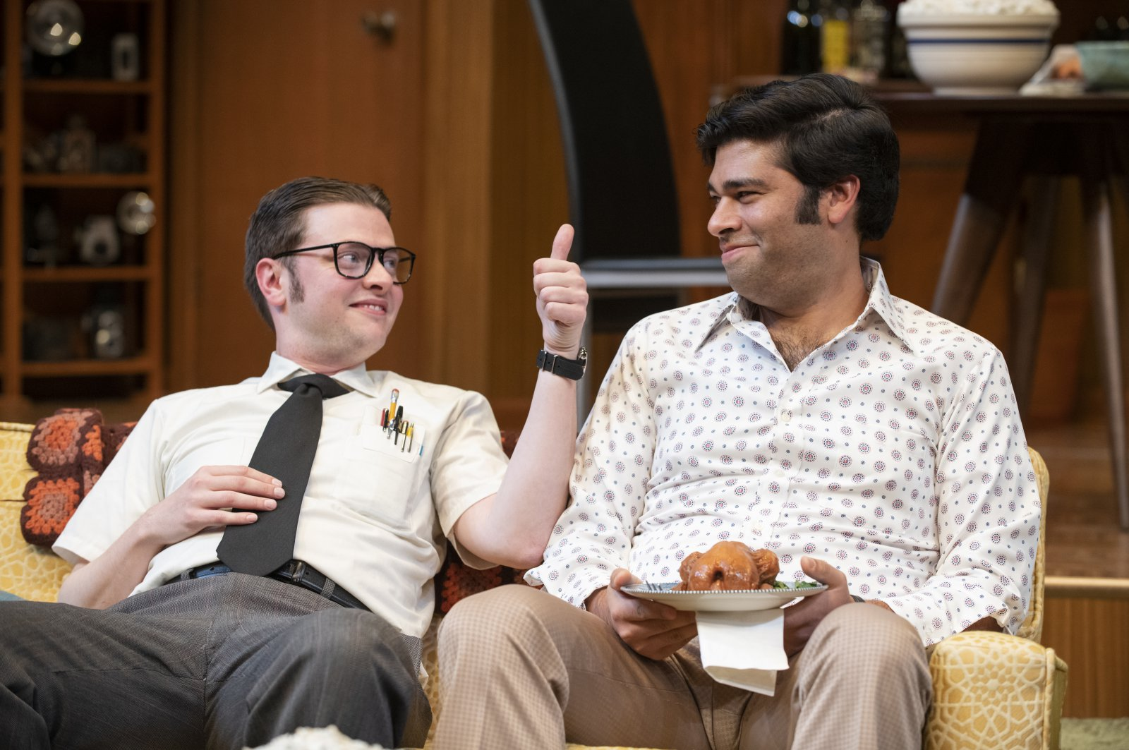 Milwaukee Repertory Theater presents The Nerd in the Quadracci Powerhouse November 12 – December 15, 2019. Left to right: Michael Doherty and Andy Nagraj.