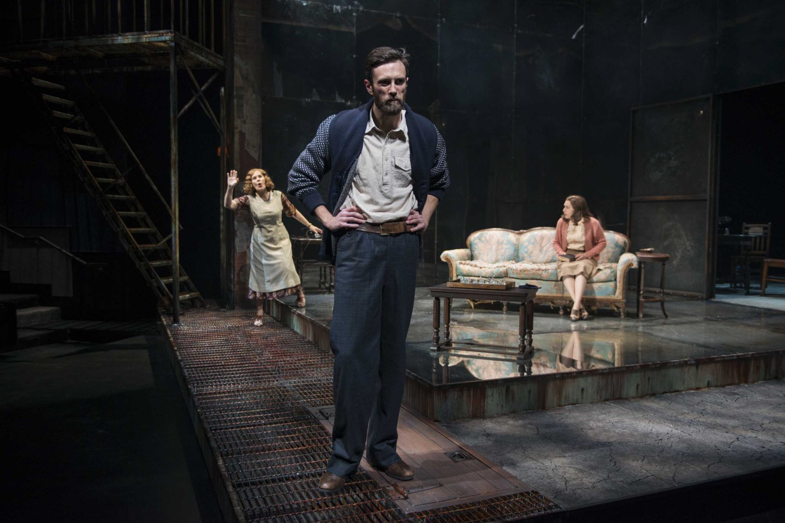 """Milwaukee Repertory Theater presents """"The Glass Menagerie"""" in the Quadracci Powerhouse March 7 – April 9, 2017. Featuring Ryan Imhoff, Hollis Resnik, Kelsey Brennan."""