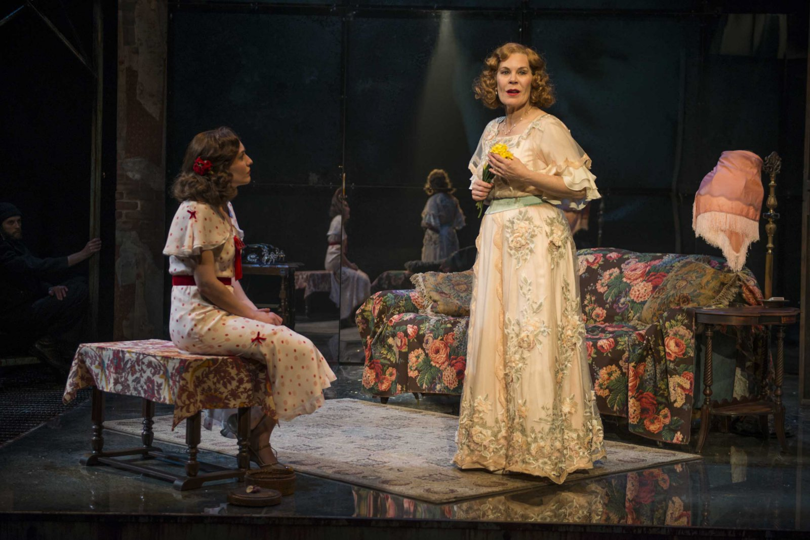"""Milwaukee Repertory Theater presents """"The Glass Menagerie"""" in the Quadracci Powerhouse March 7 – April 9, 2017. Featuring Kelsey Brennan, Hollis Resnik."""