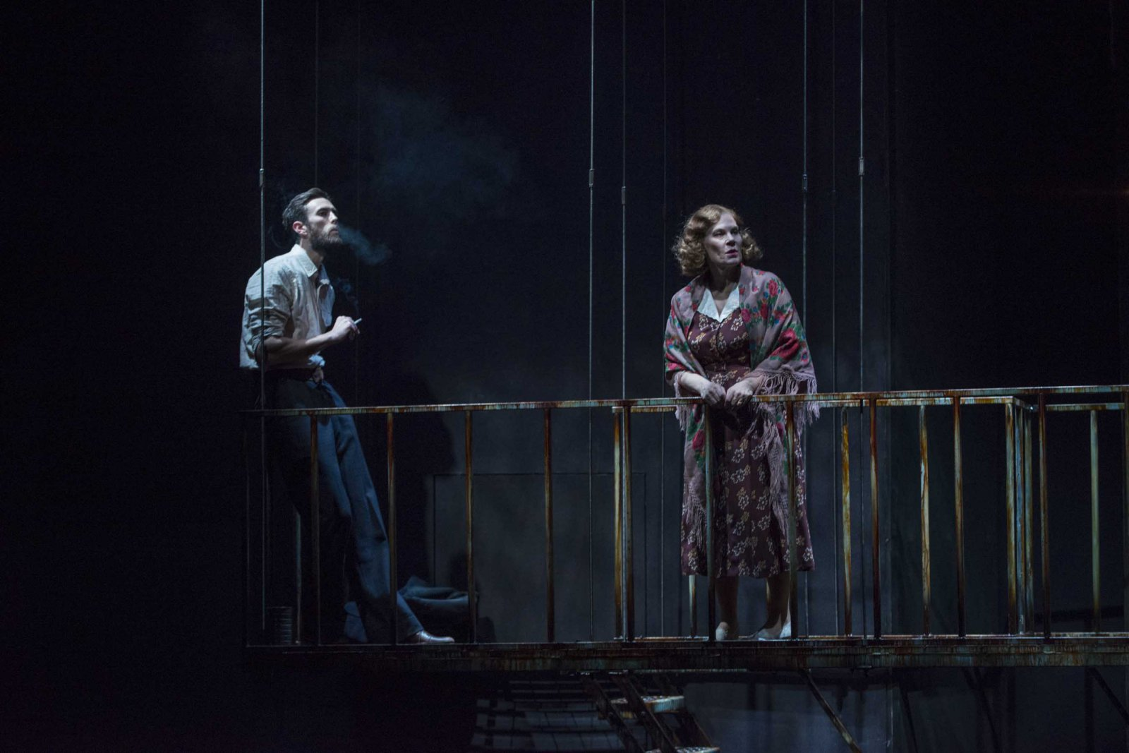 """Milwaukee Repertory Theater presents """"The Glass Menagerie"""" in the Quadracci Powerhouse March 7 – April 9, 2017. Featuring Ryan Imhoff, Hollis Resnik."""