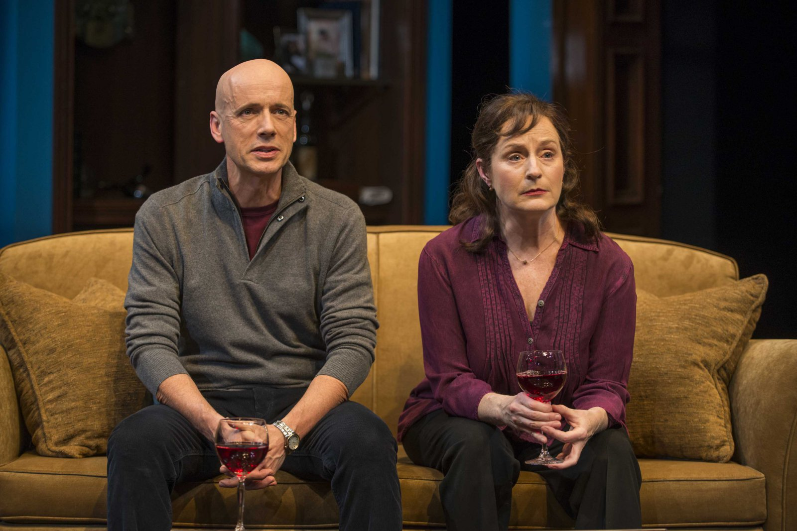 Michael Elich and Laura Gordon in Milwaukee Repertory Theater's 2014/15 Quadracci Powerhouse production of Good People.