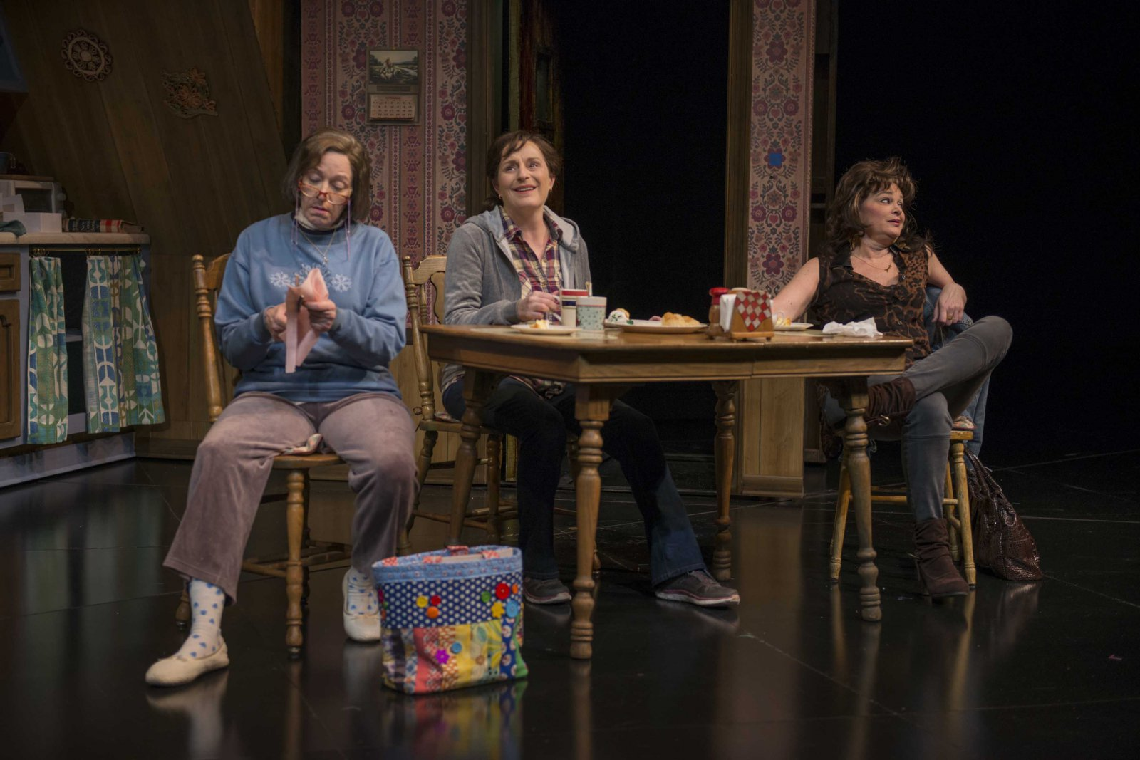 Laura T. Fisher, Laura Gordon, and Tami Workentin in Milwaukee Repertory Theater's 2014/15 Quadracci Powerhouse production of Good People.