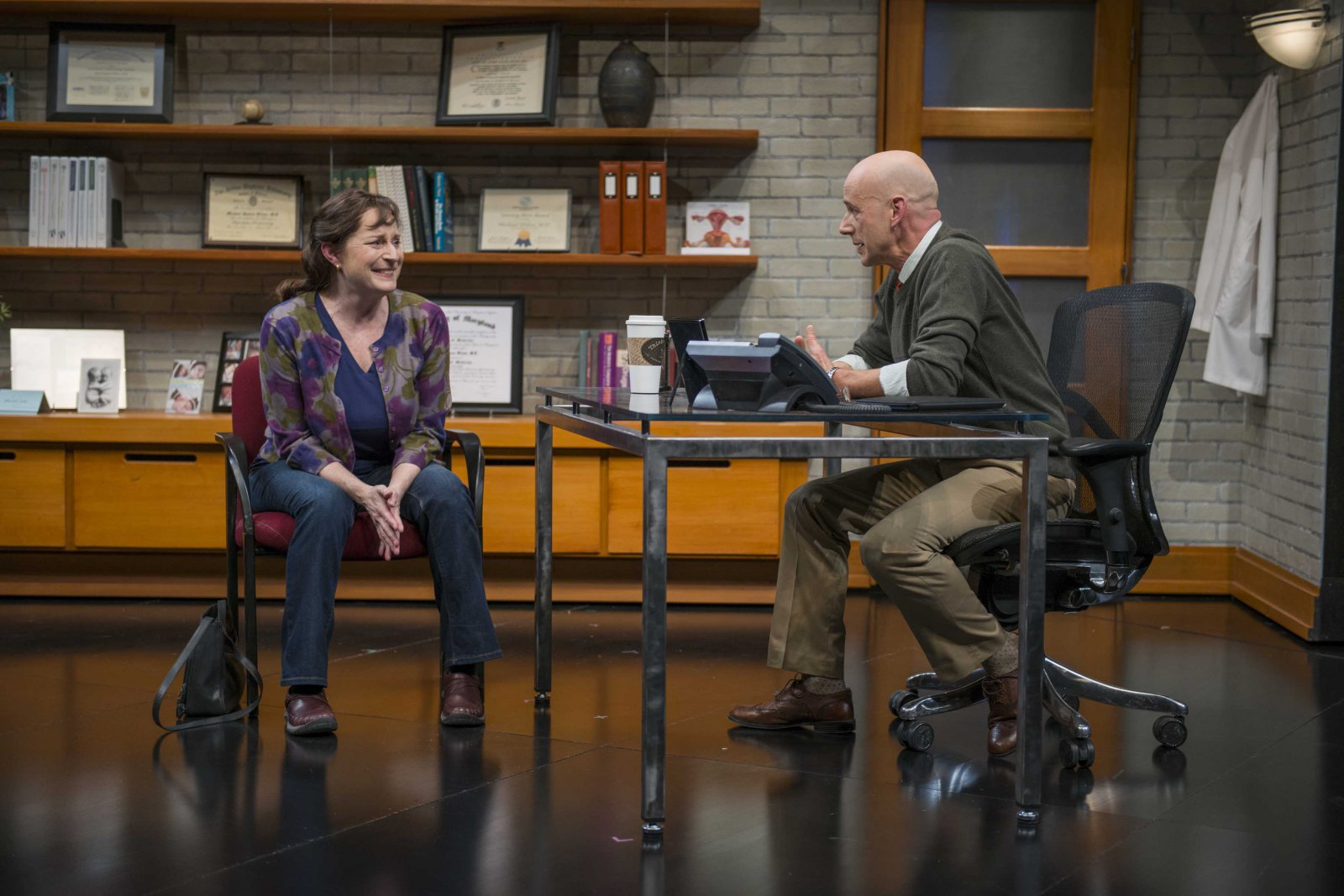 Laura Gordon and Michael Elich in Milwaukee Repertory Theater's 2014/15 Quadracci Powerhouse production of Good People.