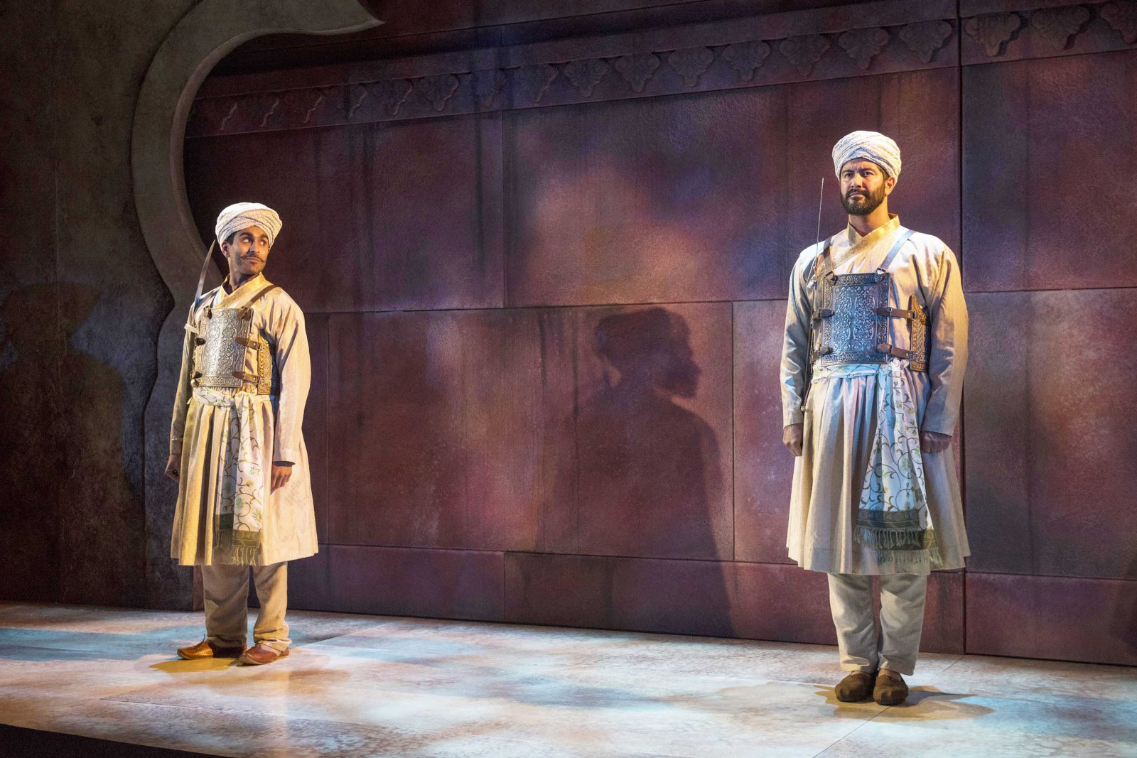 Milwaukee Repertory Theater presents Guards at the Taj  in the Stiemke Studio September 26 – November 4, 2018. Left to Right: Owa'Aìs Azeem and Yousof Sultani