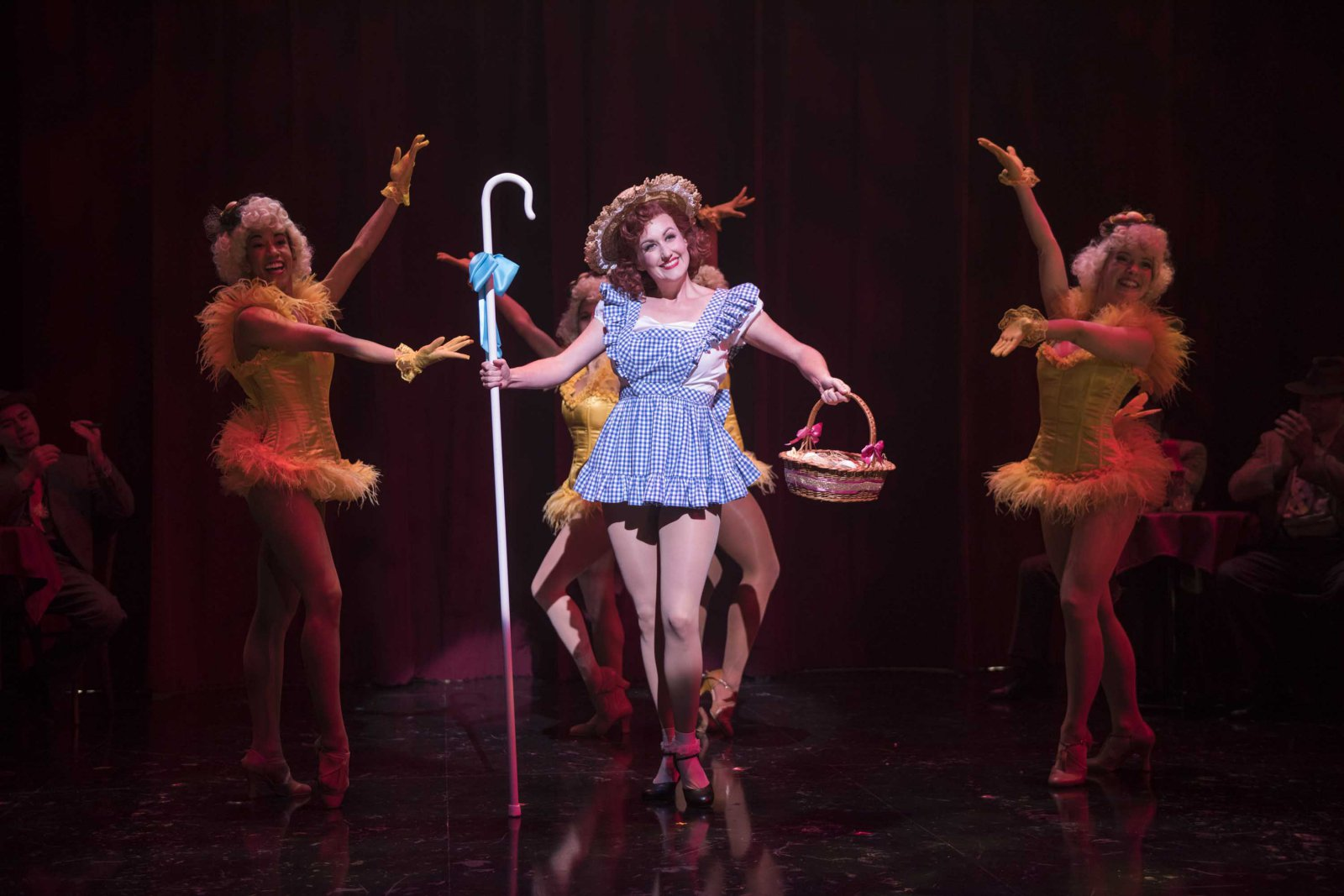 Milwaukee Repertory Theater presents Guys and Dolls in the Quadracci Powerhouse from September 19 to October 29, 2017. Kelley Faulkner and cast