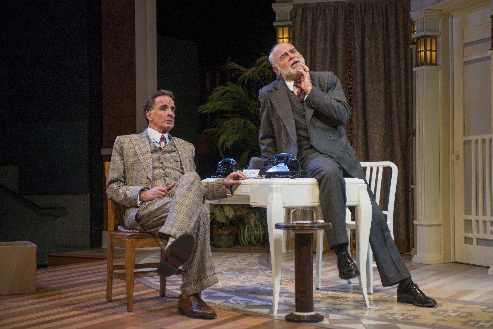 Jonathan Gillard Daly and James Pickering in Milwaukee Repertory Theater's 2014/15 Quadracci Powerhouse production of Harvey.