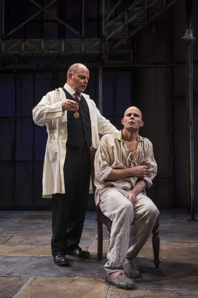 Milwaukee Repertory Theater presents Holmes and Watson in the Quadracci Powerhouse from November 14 to December 17, 2017. Left to Right:  Mark Corkins and Rex Young.