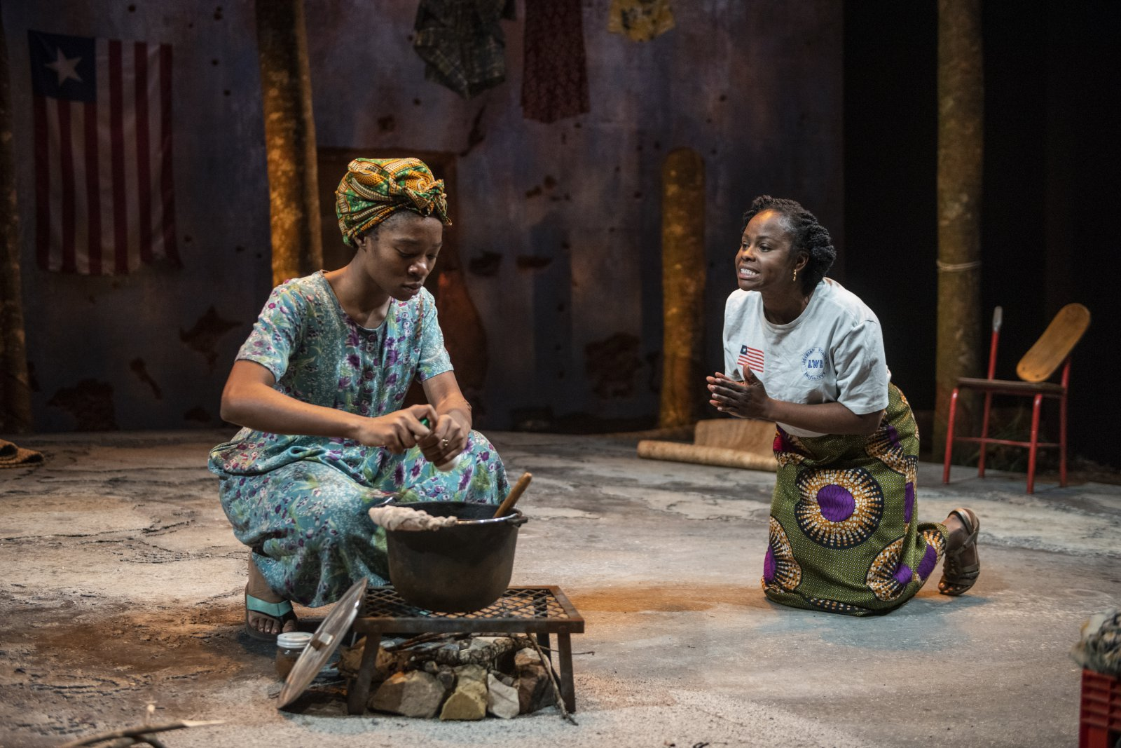 Milwaukee Repertory Theater presents Eclipsed in the Quadracci Powerhouse March 3 – March 29, 2020. Left to right: Jacqueline Nwabueze and Nancy Moricette.