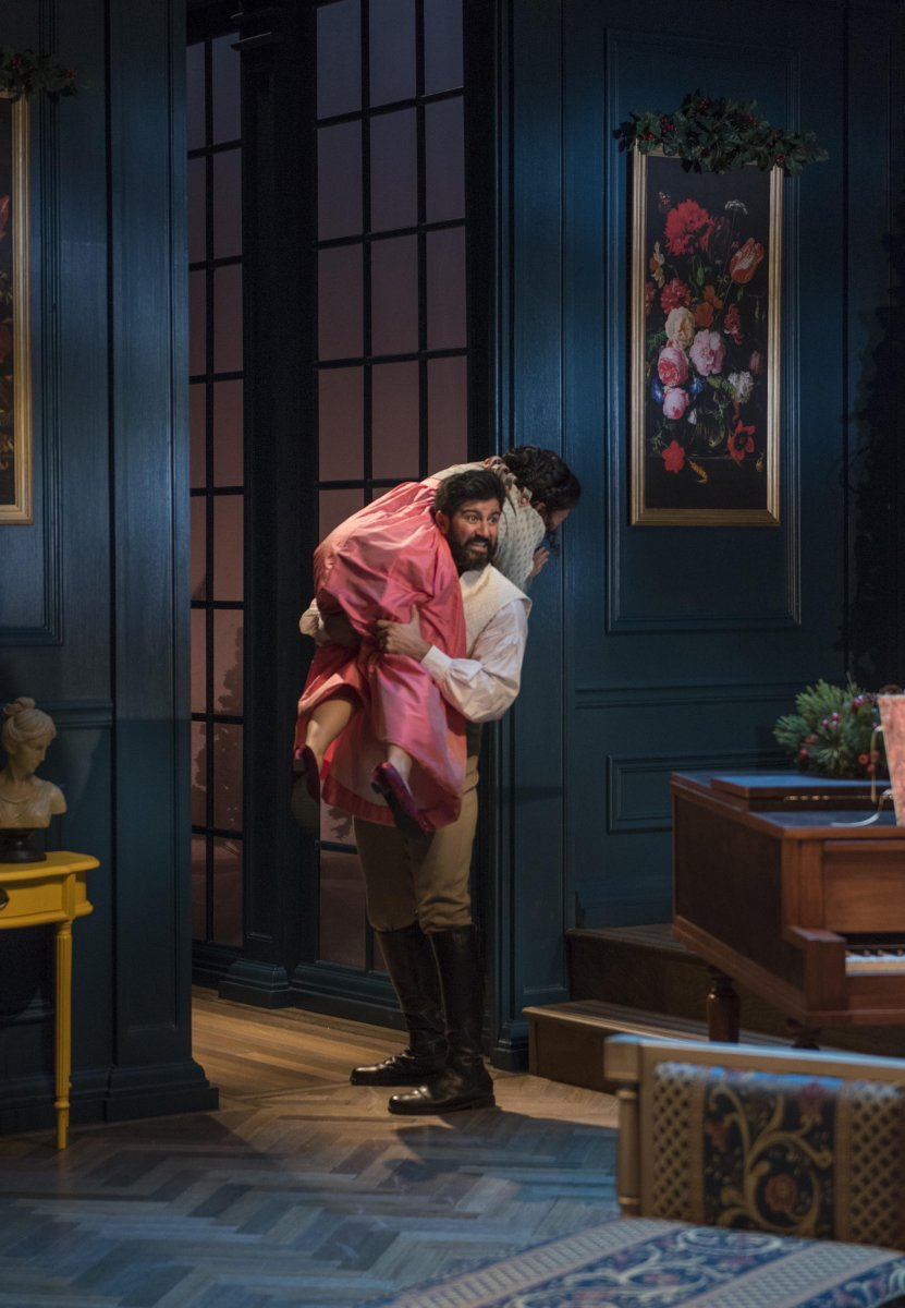Milwaukee Repertory Theater presents Miss Bennet: Christmas at Pemberley in the Quadracci Powerhouse from November 13 – December 16, 2018.  Featuring Yousof Sultani and Deanna Myers.
