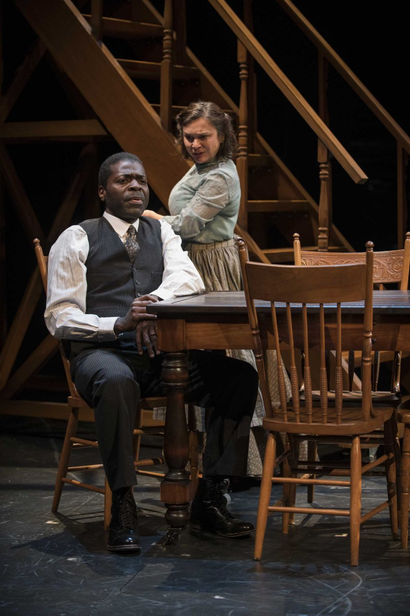Milwaukee Repertory Theater presents Our Town in the Quadracci Powerhouse from April 10 – May 13, 2018. Left to Right: Chiké Johnson and Elizabeth Ledo