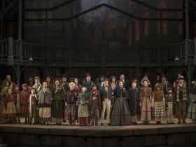 The cast from Milwaukee Repertory Theater's 2013/14 production of A Christmas Carol.