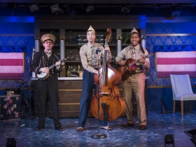 Milwaukee Repertory Theater presents The All Night Strut! in the Stackner Cabaret from November 9, 2018 – January 13, 2019.  Left to Right: Jonathan Spivey, Brian Russell Carey, Nygel D. Robinson