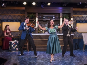 Milwaukee Repertory Theater presents The All Night Strut! in the Stackner Cabaret from November 9, 2018 – January 13, 2019.  Left to Right: Kelley Faulkner, Brian Russell Carey, Katherine Thomas, Jonathan Spivey