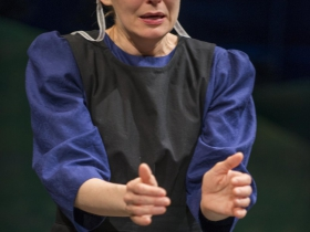Deborah Staples in Milwaukee Repertory Theater's 2014/15 Stiemke Studio production of The Amish Project.