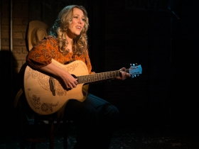 Milwaukee Repertory Theater presents the world premiere production of Back Home Again: On The Road With John Denver in the Stackner Cabaret Sept 11 to Nov 8, 2015. Pictured: Katie Deal.