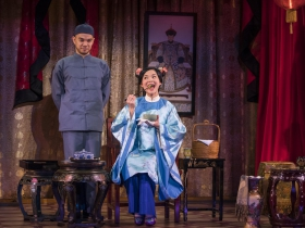 Milwaukee Repertory Theater presents The Chinese Lady  in the Stiemke Studio from February 13 – March 24, 2019 featuring Jon Norman Schneider as Atung and Lisa Helmi Johanson as Afong Moy