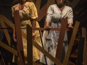 Stephanie Umoh (Nettie) and Zonya Love (Celie) in Milwaukee Repertory Theater's 2014/15 Quadracci Powerhouse production of The Color Purple.