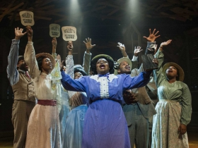 Allyson Kaye Daniel and cast in Milwaukee Repertory Theater's 2014/15 Quadracci Powerhouse production of The Color Purple.