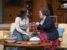 Milwaukee Repertory Theater presents The Nerd in the Quadracci Powerhouse November 12 – December 15, 2019. Left to right: Alex Keiper and Lillian Castillo.