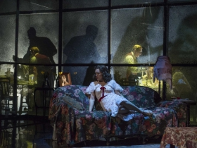"""Milwaukee Repertory Theater presents """"The Glass Menagerie"""" in the Quadracci Powerhouse March 7 –April 9, 2017. Featuring Kelsey Brennan."""