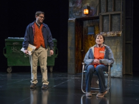 Bernard Balbot and Laura Gordon in Milwaukee Repertory Theater's 2014/15 Quadracci Powerhouse production of Good People.