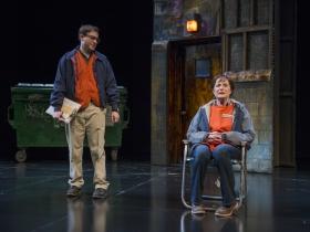 Bernard Balbot and Laura Gordon in Milwaukee Repertory Theater's 2014/15 Quadracci Powerhouse production of Good People.