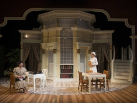 (L – R) Deborah Staples and Kelley Faulkner in Milwaukee Repertory Theater's 2014/15 Quadracci Powerhouse production of Harvey.