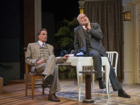 Jonathan Gillard Daly and James Pickering in Milwaukee Repertory Theater's 2014/15 Quadracci Powerhouse production of Harvey.