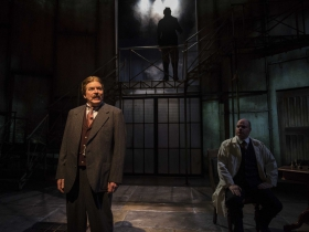 Milwaukee Repertory Theater presents Holmes and Watson in the Quadracci Powerhouse from November 14 to December 17, 2017. Left to Right:  Norman Moses and Mark Corkins.