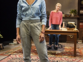 Milwaukee Repertory Theater presents The Niceties in the Stiemke Studio September 25 – November 3, 2019. Left to right: Kimber Sprawl and Kate Levy