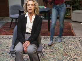 Milwaukee Repertory Theater presents The Niceties in the Stiemke Studio September 25 – November 3, 2019. Left to right: Kate Levy and Kimber Sprawl