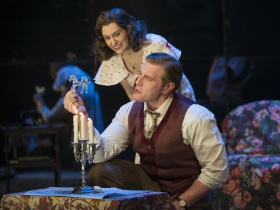 "Milwaukee Repertory Theater presents ""The Glass Menagerie"" in the Quadracci Powerhouse March 7 – April 9, 2017. Featuring Kelsey Brennan, Brandon Dahlquist."