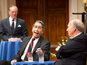 (L-R) – Mark Jacoby, Steve Sheridan, and Jeff Steitzer in Milwaukee Repertory Theater's 2014/15 Quadracci Powerhouse world premiere production of Five Presidents.