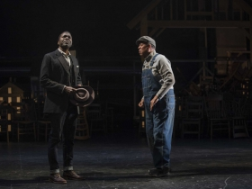 Milwaukee Repertory Theater presents Our Town in the Quadracci Powerhouse from April 10 – May 13, 2018. Left to Right: Chiké Johnson and James Craven