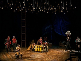 The cast in Milwaukee Repertory Theater's 2014/15 Quadracci Powerhouse production of Peter and the Starcatcher.