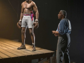 Milwaukee Repertory Theater presents The Royale in the Stiemke Studio from September 30 to November 6, 2016 featuring Left to right, Cedric Turner and David St. Louis