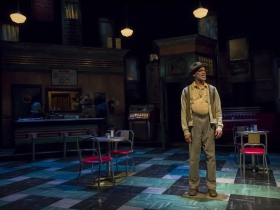 Holloway (Michael Anthony Williams) in Milwaukee Repertory Theater's production of August Wilson's Two Trains Running April 16 – May 12, 2019