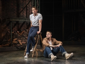 Milwaukee Repertory Theater presents West Side Story in the Quadracci Powerhouse September 17 – October 27, 2019. Left to right: Jeffrey Kringer and Jacob Burns