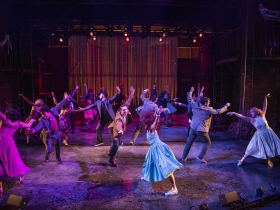 Milwaukee Repertory Theater presents West Side Story in the Quadracci Powerhouse September 17 – October 27, 2019. Pictured: The company of West Side Story