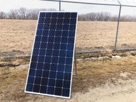 Solar Panel at 1600 E. College Ave.