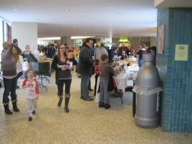 Families came out to shop the market.