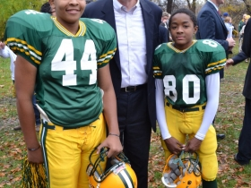 Soon to be Packer starters, Kejuwan and Earl, meet Mayor Barrett