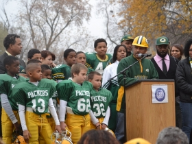 Director of Youth Programs at Jouney House, Charles Brown, tells the story of the football field