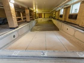 Concrete Pour into Caroline Hall Pool